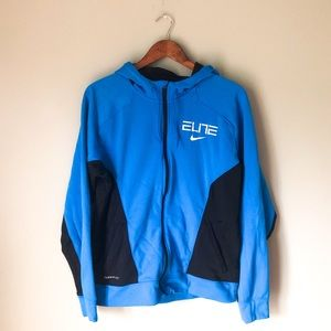Nike Men's Black And Blue Therma-Fit Jacket Sz L
